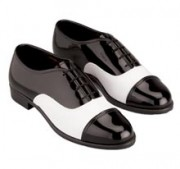 Mens Tuxedo Patent Shoes (Style #940)  Black and White