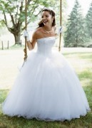 Style NT8017 (Strapless Tulle Ball Gown with Beaded Satin Bodice) Davids Bridal
