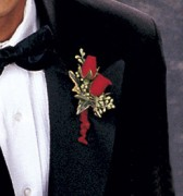 Red Roses Boutonniere