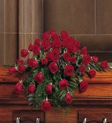 48 Red Rose Casket Spray